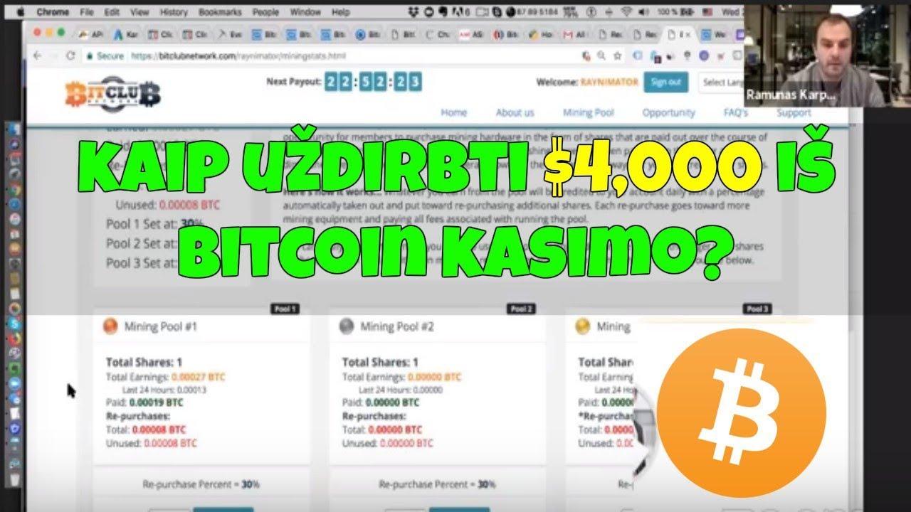 uždirbti btcon Investicijos į darbą internete
